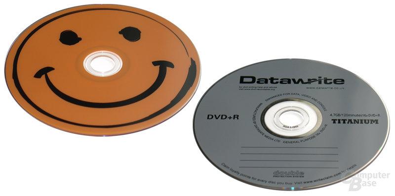 16x-Budget-Rohlinge: Smiley DVD-R & Datawrite DVD+R