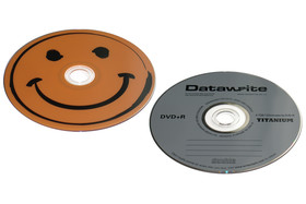 16x-Budget-Rohlinge: Smiley DVD-R & Datawrite DVD+R