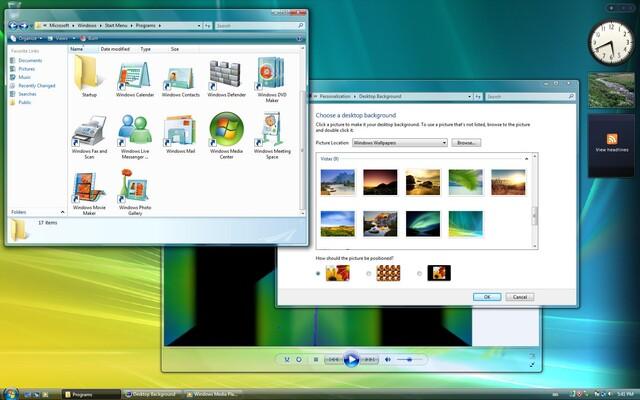 Windows Vista Build 5840 mit neuen Icons und Hintergründen