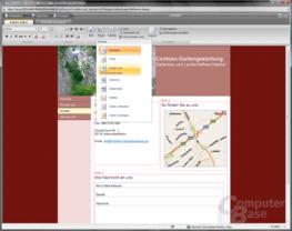 Office Live WebDesigner Seiteneditor