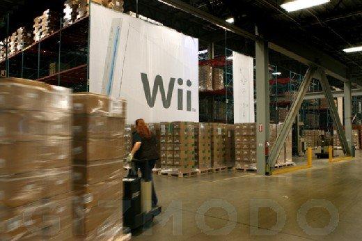 Warenlager mit Nintendos Wii-Konsole