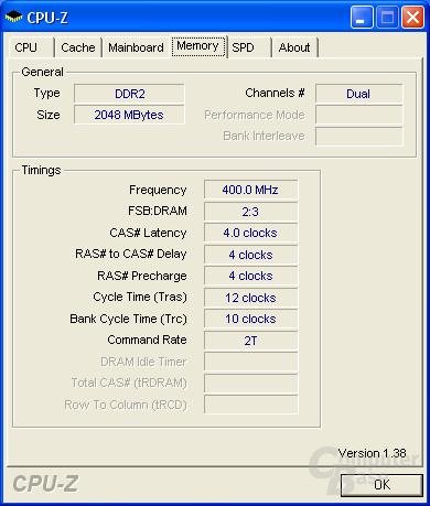 Asus P5N32-E SLI CPU-Z RAM
