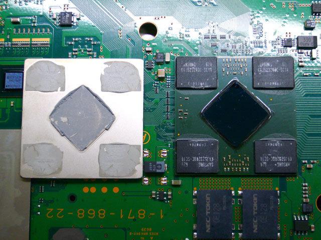 RSX-Chip mit Heatspreader