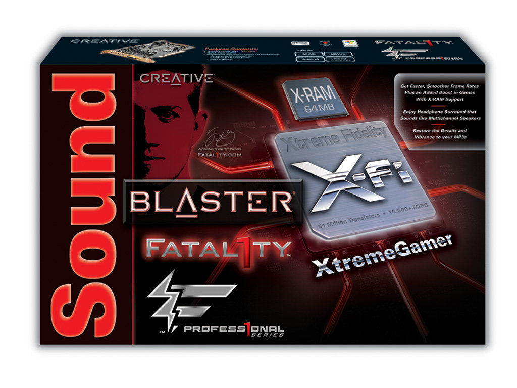 X-Fi Xtreme Gamer Fatal1ty Professional Series