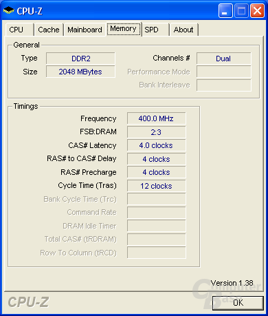 Asus P5B-E Plus CPU-Z RAM