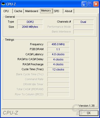 Asus P5B-E Plus CPU-Z RAM max