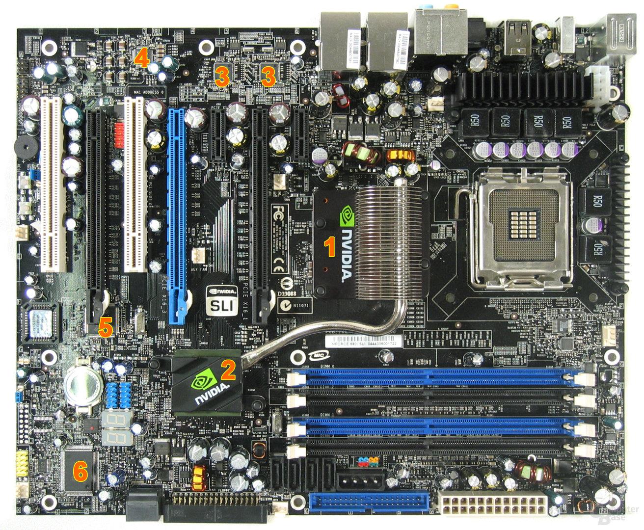 EVGA 680i SLI Komponenten