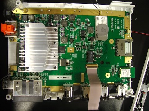 Mainboard der Wii mit Kühler