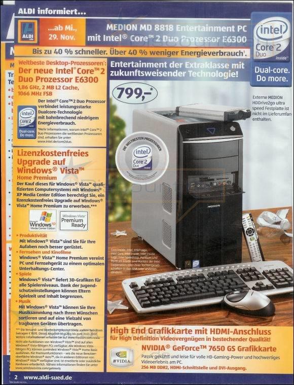 Aldi-PC Medion Titanium MD 8818