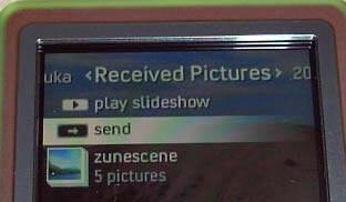 """empfangene """"Bilder"""" mit dem Zune"""