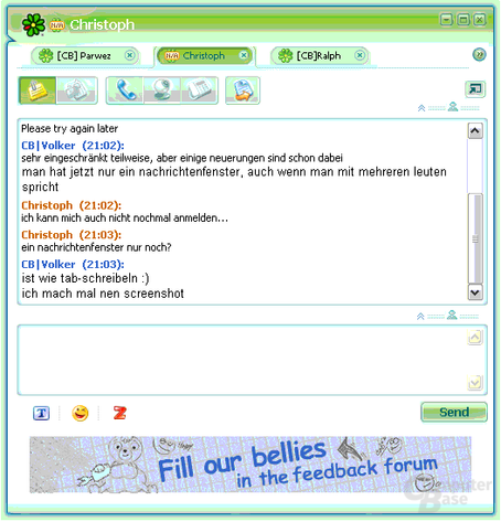 "ICQ 6 Preview - ""Tabbed Messaging"""