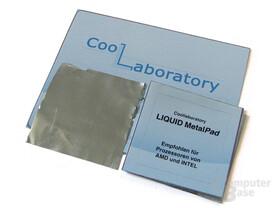 MetalPad für CPU: 38 x 38 mm für AMD, 30 x 30 mm für Intel auszuschneiden