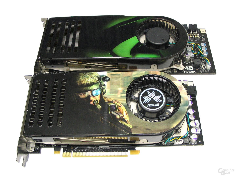 8800 GTS (unten) vs 8800 GTX (oben)