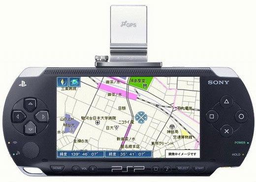 PlayStation Portable mit GPS-Einheit