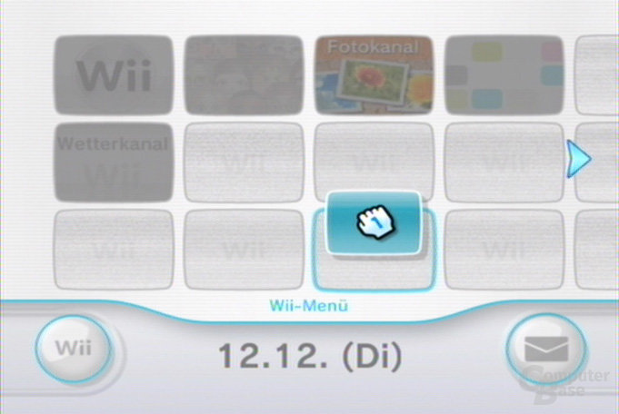 Wii-Menü: Kanäle umsortieren