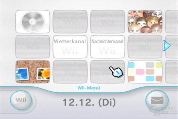 Wii-Menü: Kanäle angepasst