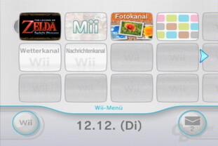 Wii-Menü: Kanäle