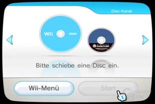 Disk-Kanal ohne eingelegte DVD