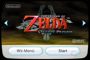 Disk-Kanal mit Wii-Spiel