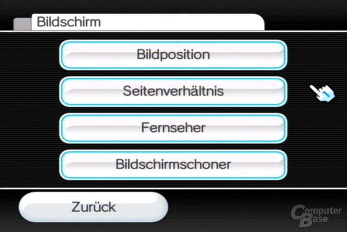 Einstellungen: Bildschirm-Optionen