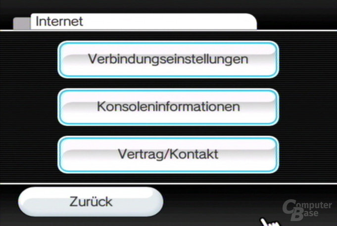 Einstellungen: Internet
