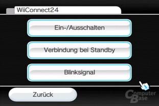 Einstellungen: WiiConnect 24