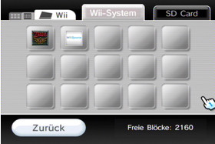 Datenverwaltung: Wii-Spielstände