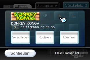 Datenverwaltung: GCN-Spielstand kopieren, verschieben oder löschen