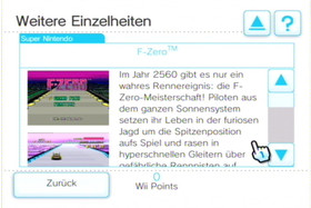 Shop-Kanal: F-Zero, weitere Einzelheiten