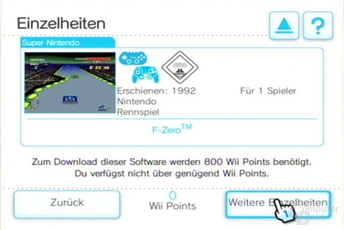 Shop-Kanal: F-Zero für Super NES