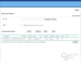 BitTorrent Downloadfenster im Browser