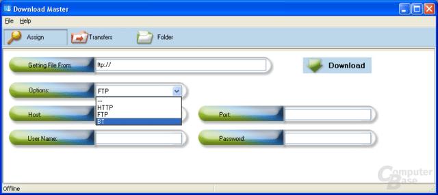 Downloadmaster des Asus WL-700gE: