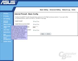 Firewall-Einstellungen