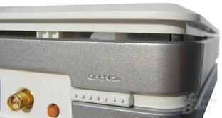 Ezsetup-Knopf und Möglichkeit den Deckel zu öffnen auf der Rückseite
