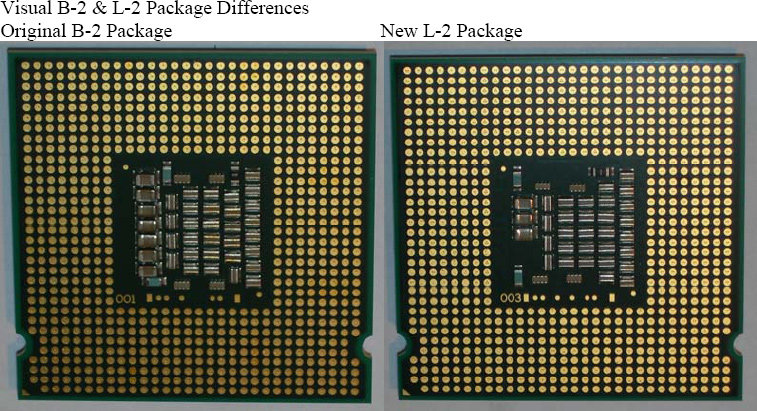 Neues Conroe-Stepping: B2 und L2 lassen sich optisch unterscheiden