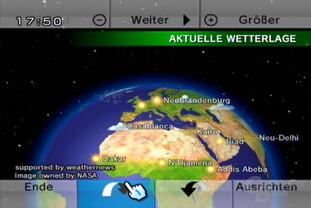 Wetterkanal: Globus,  rotier- und neigbar