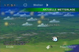 Wetterkanal: Globus, Gebirge als flache Fotos