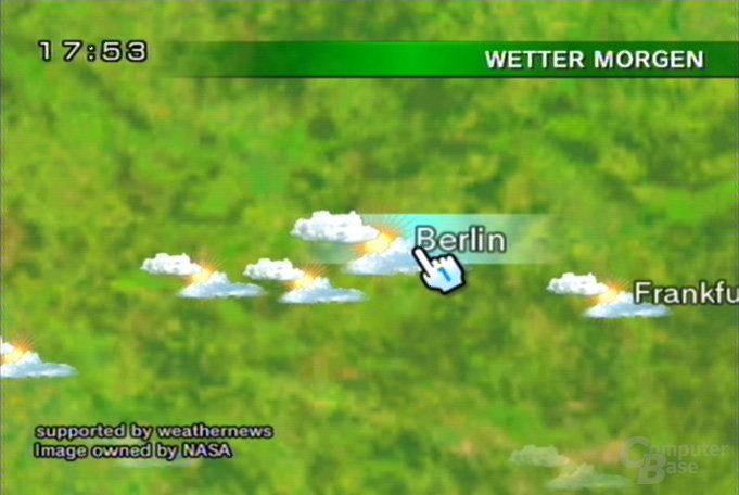 Wetterkanal: Globus, örtliche Wetterdaten