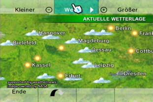 Wetterkanal: Globus, aktuelle Wetterlage