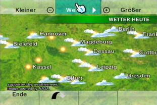 Wetterkanal: Globus, Wetter heute