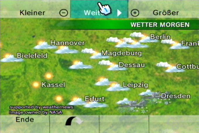Wetterkanal: Globus, Wetter morgen