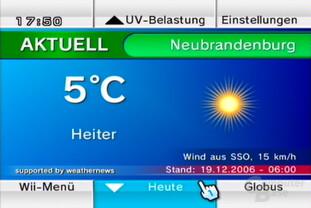 """Wetterkanal: Ansicht """"Aktuelles Wetter"""""""