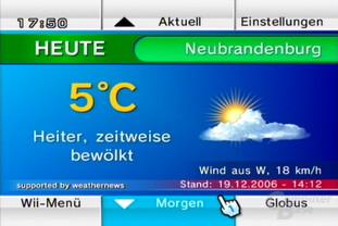 """Wetterkanal: Ansicht """"Wetter Heute"""""""