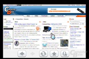 Der Internet-Kanal: Seitenansicht