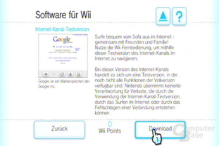 Internet-Kanal  Testversion: Der Download 1