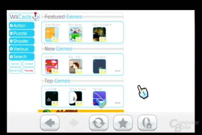 Internet-Kanal Testversion: Die WiiCade