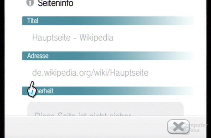 Intenet Kanal: Seiteninformationen