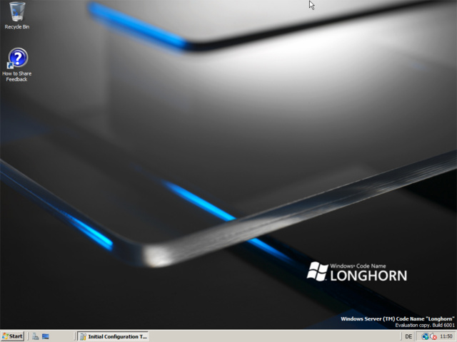 "Windows Server ""Codename"" Longhorn Build 6001"