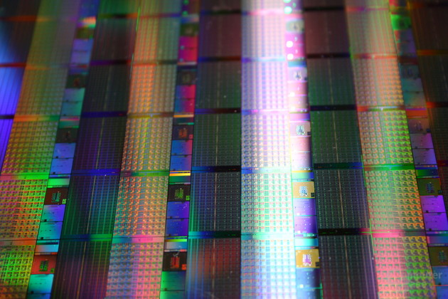 Wafer mit 80-Core-CPUs