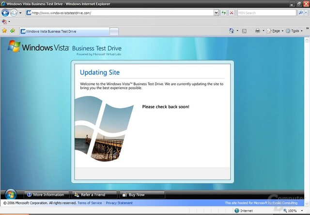 Windows Vista Business Test Drive